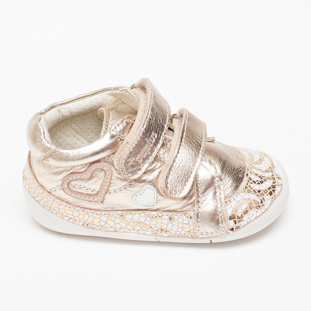 a6b5a2a6b29 Χρυσά κοριτσίστικα δερμάτινα sneakers – Πα-τη-το