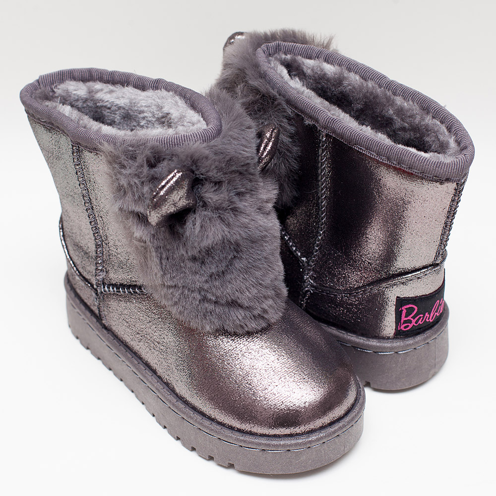 3e262d372a1 Κοριτσίστικες μπότες γκρι με επένδυση από γούνα – Πα-τη-το